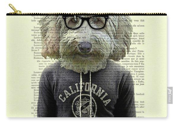 Labradoodle Dog Portrait Art Carry-all Pouch