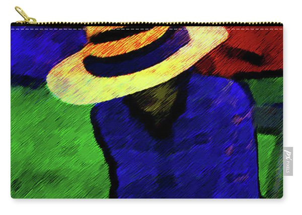 Lady And Puppy Painting Carry-all Pouch