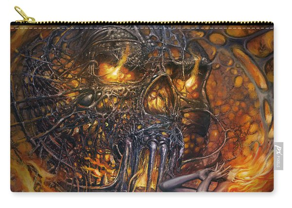 Lady And Skull Carry-all Pouch