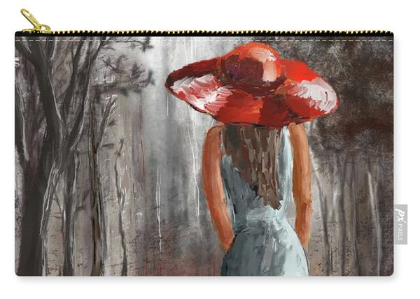 Lady In A Red Hat Carry-all Pouch