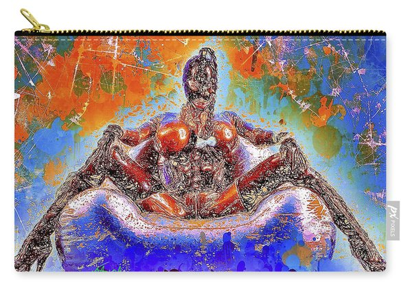 Carry-all Pouch featuring the mixed media Lady In Latex by Al Matra