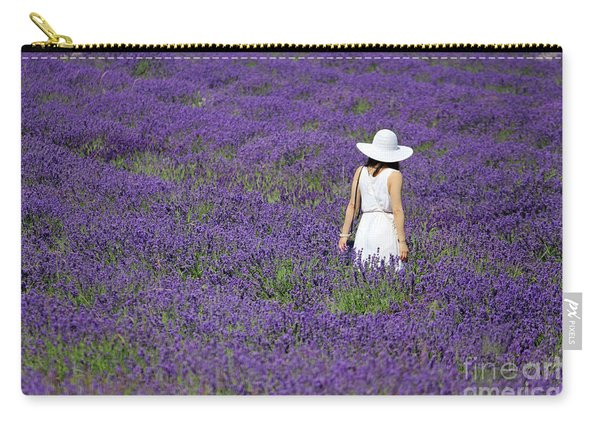 Lady In Lavender Field Carry-all Pouch