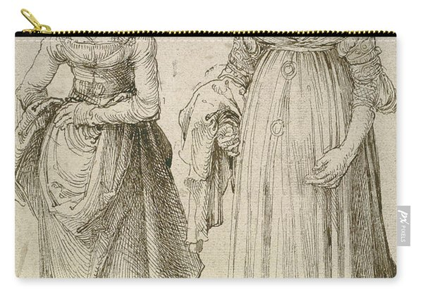 Lady In Venetian Dress Contrasted With A Nuremberg Hausfrau Carry-all Pouch