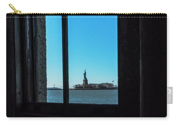 Carry-all Pouch featuring the photograph Lady Liberty by Tom Singleton