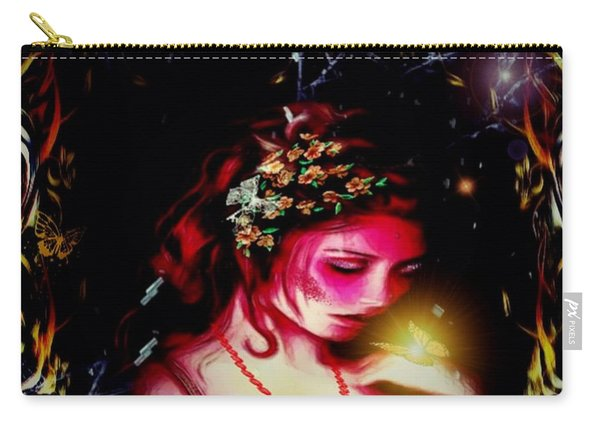 Lady Magic Butterfly Carry-all Pouch