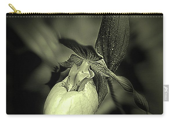 Lady Slipper Orchid Flower Carry-all Pouch