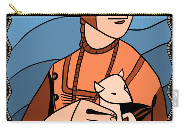 Lady With An Ermine By Piotr Carry-all Pouch