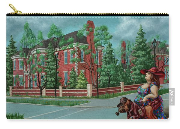 Lady With The Dog Carry-all Pouch
