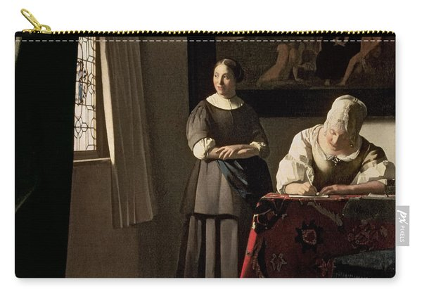 Lady Writing A Letter With Her Maid Carry-all Pouch