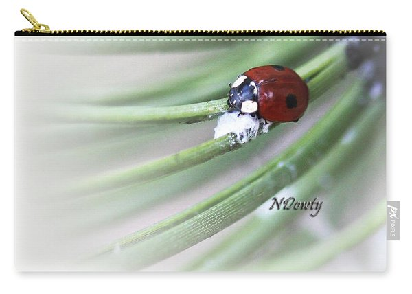 Ladybug On Pine Carry-all Pouch