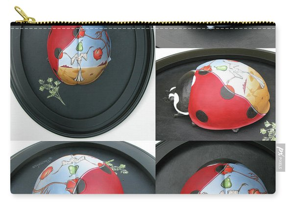 Ladybug On The Half Shell Carry-all Pouch