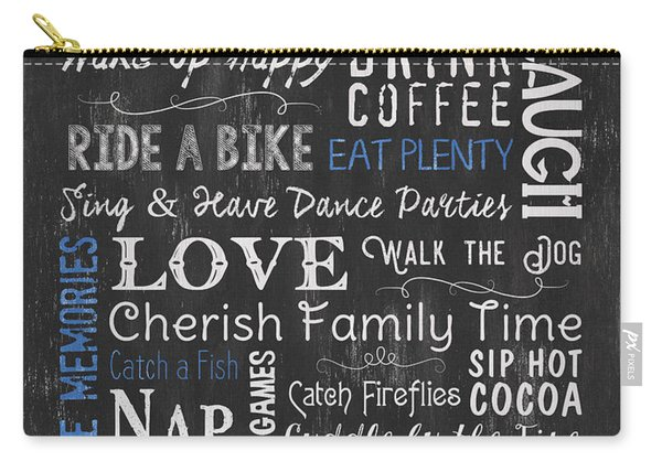 Lake House Rules Carry-all Pouch