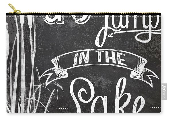 Lake House Rustic Sign Carry-all Pouch