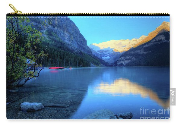 Lake Louise Autumn Bright Sunrise Banff National Park Carry-all Pouch
