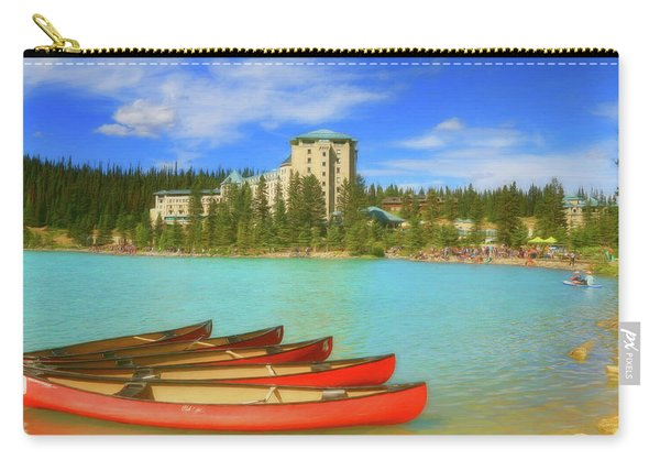 Red Canoes - Lake Louise Alberta Canada Carry-all Pouch