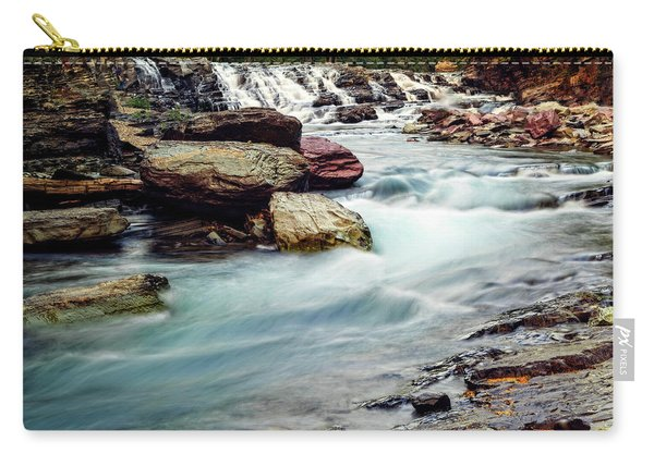 Lake Mcdonald Falls, Glacier National Park, Montana Carry-all Pouch