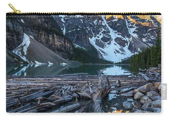 Lake Moraine Peaks Reflection Logscape Carry-all Pouch