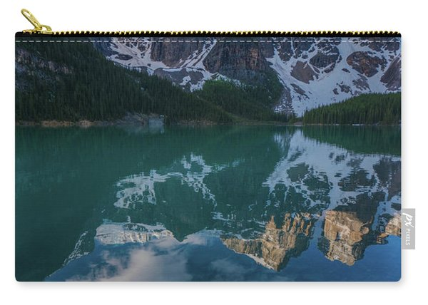 Lake Moraine Peaks Reflection Carry-all Pouch