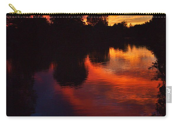 Lake Sunset Reflections Carry-all Pouch