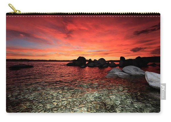 Carry-all Pouch featuring the photograph Lake Tahoe Liquid Dreams by Sean Sarsfield