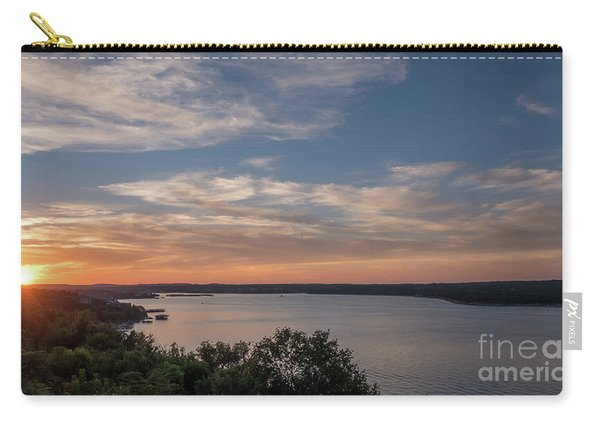 Lake Travis During Sunset With Clouds In The Sky Carry-all Pouch