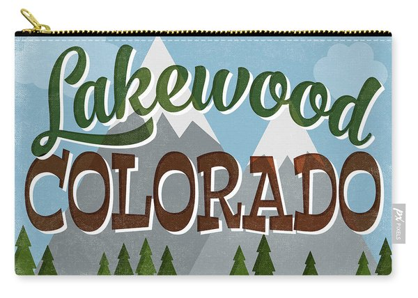 Lakewood Colorado Snowy Mountains Carry-all Pouch