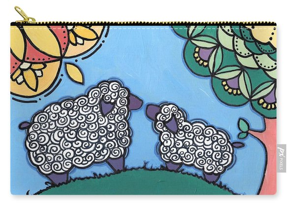 Lamb And Mama Sheep Carry-all Pouch