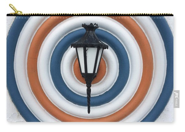 Carry-all Pouch featuring the photograph Lamp Hits The Bullseye by Matthew Wolf