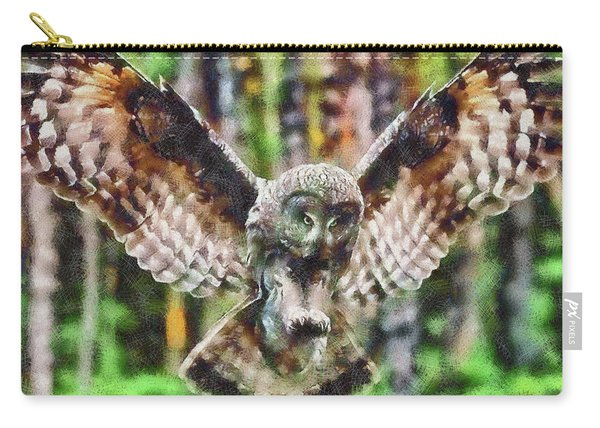 Landing Owl Carry-all Pouch