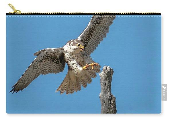 Landing Prairie Falcon Carry-all Pouch
