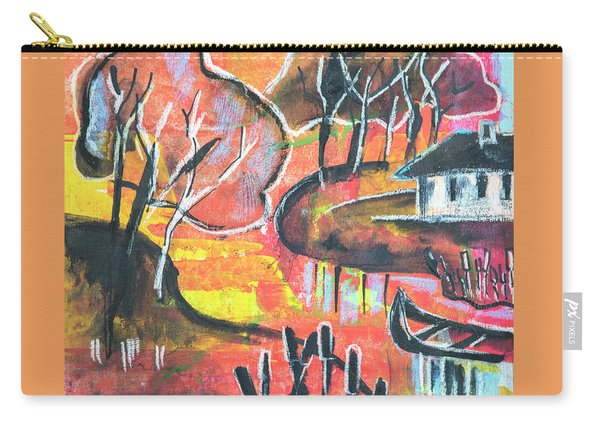 Landscape Seasonal Illustration Carry-all Pouch