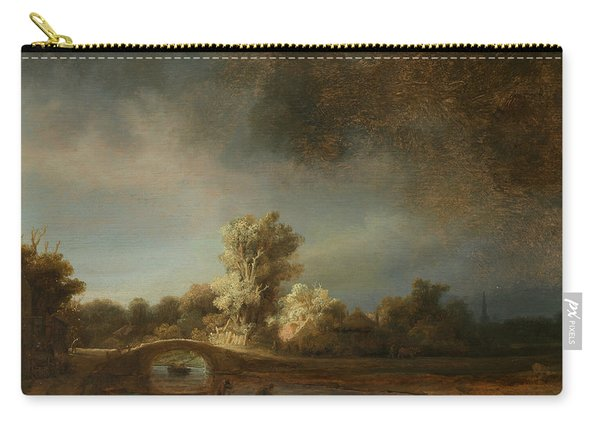 Landscape With A Stone Bridge Carry-all Pouch