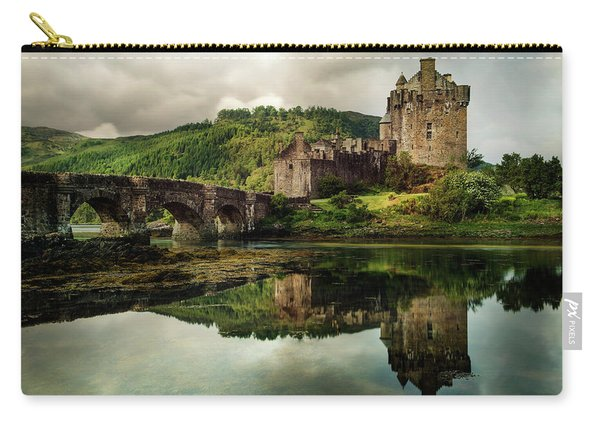 Carry-all Pouch featuring the photograph Landscape With An Old Castle by Jaroslaw Blaminsky