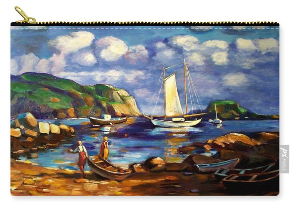 Landscape With Boats Carry-all Pouch