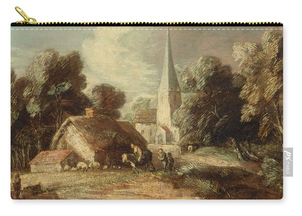 Landscape With Cottage And Church Carry-all Pouch