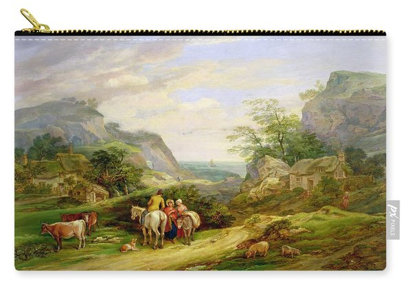 Landscape With Figures And Cattle Carry-all Pouch