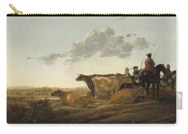 Landscape With Herdsmen Carry-all Pouch