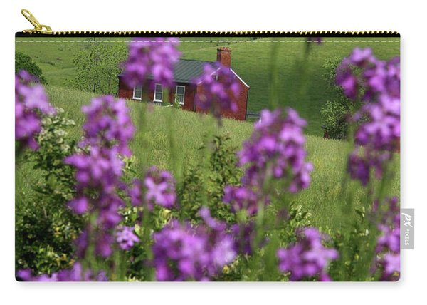 Landscape With Purple Flowers In Virginia Carry-all Pouch