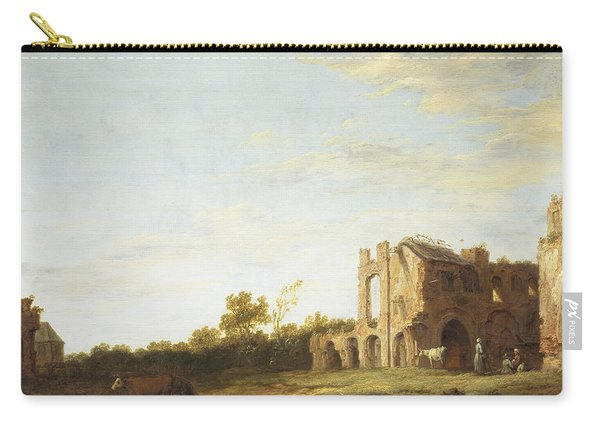 Landscape With The Ruins Of Rijnsburg Abbey Carry-all Pouch