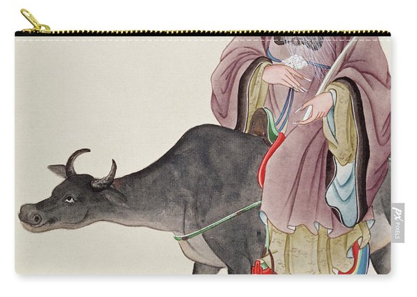 Lao Tzu On His Buffalo Carry-all Pouch
