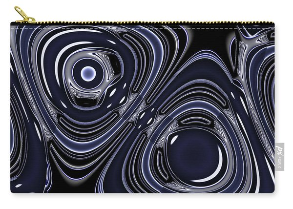 Lapis And Chrome Abstract Carry-all Pouch