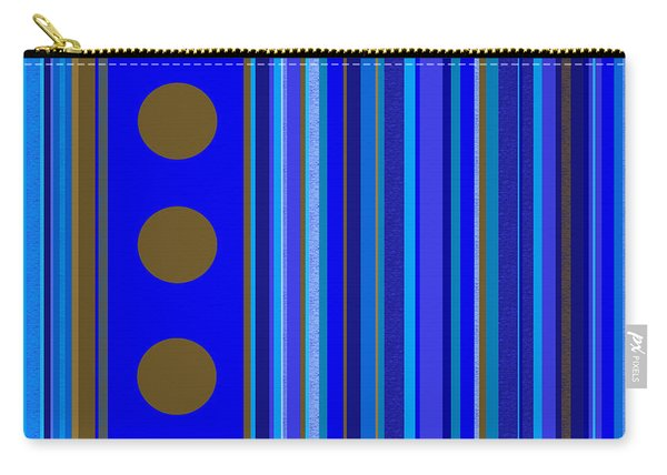 Large Blue Abstract - Panel Three Carry-all Pouch
