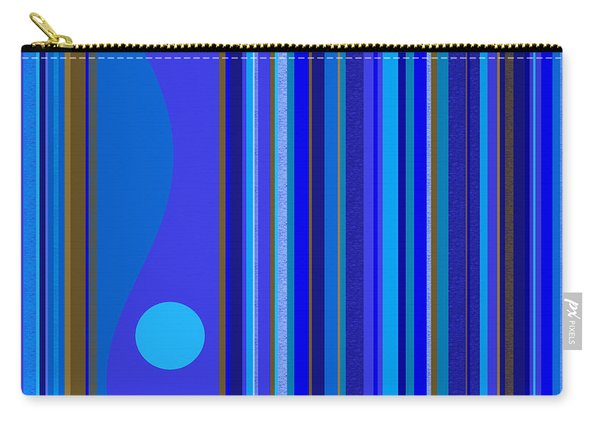 Large Blue Abstract Carry-all Pouch