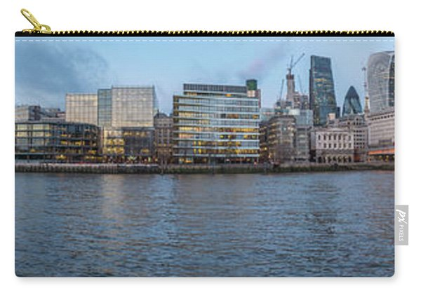 Large Panorama Of Downtown London Betwen The London Bridge And T Carry-all Pouch