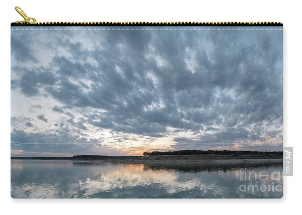 Large Panorama Of Storm Clouds Reflecting On Large Lake At Sunse Carry-all Pouch