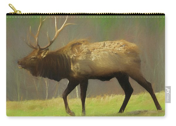 Large Pennsylvania Bull Elk. Carry-all Pouch