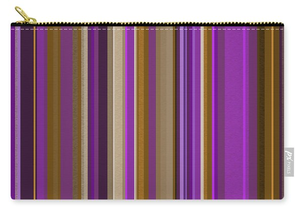 Large Purple Abstract - Three Carry-all Pouch