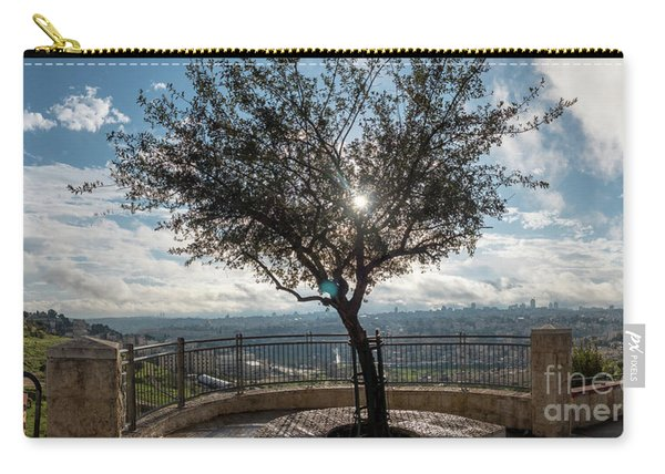 Large Tree Overlooking The City Of Jerusalem Carry-all Pouch
