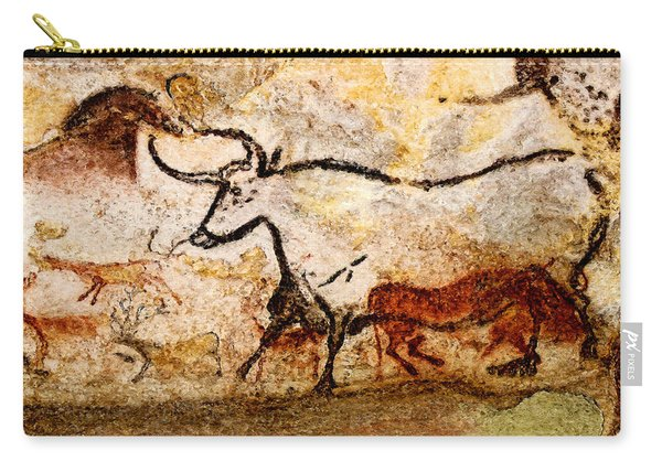 Lascaux Hall Of The Bulls - Aurochs Carry-all Pouch