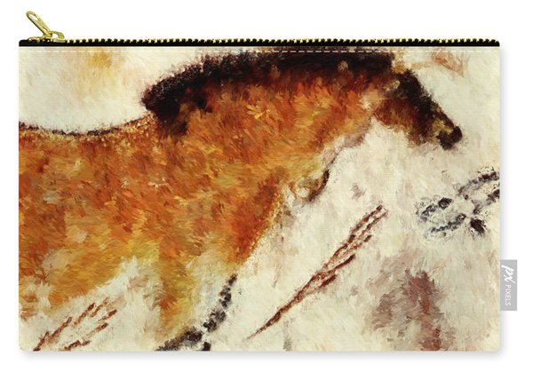 Lascaux Prehistoric Horse Detail Carry-all Pouch